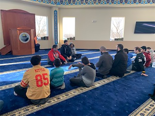 Weekend school teachers and students gathered for salah at the masjid.