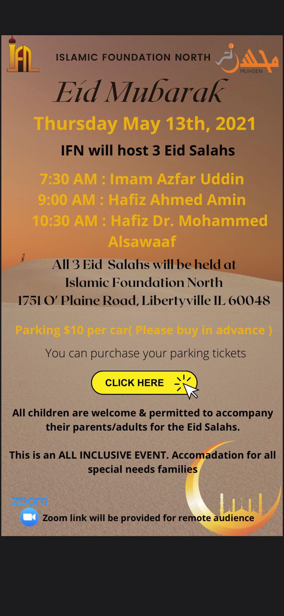Islamic Foundation North Eid Salah Flyer