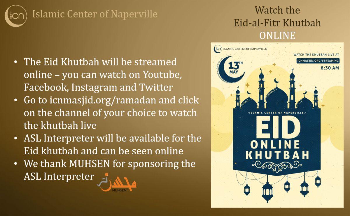 Islamic Center of Naperville Eid Salah Flyer