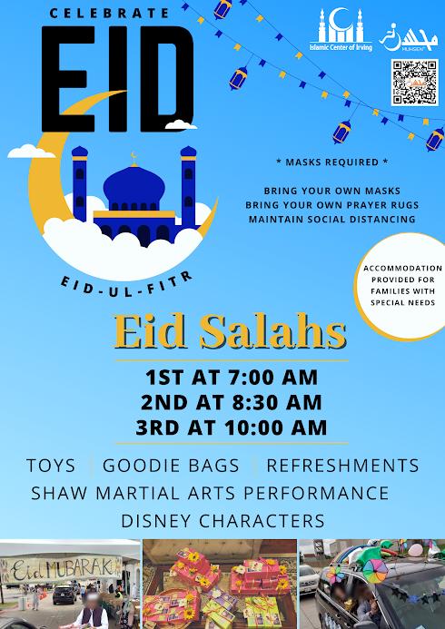 Islamic Center of Irving Eid Salah Flyer