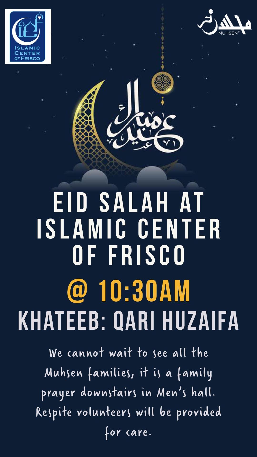 Islamic Center of Frisco Eid Salah Flyer
